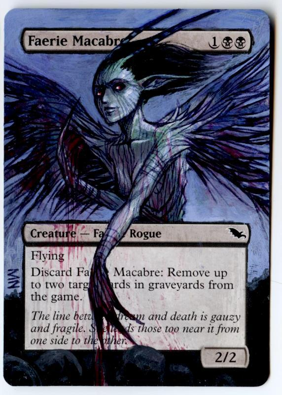 Faerie Macabre card alter by seesic