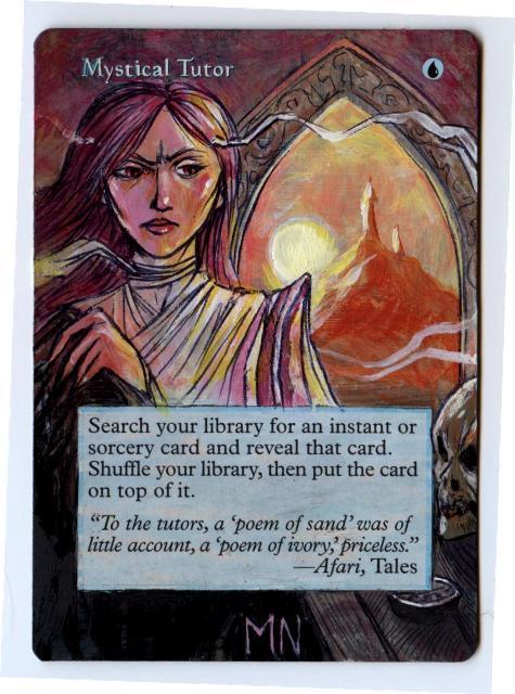 Mystical Tutor card alter by seesic