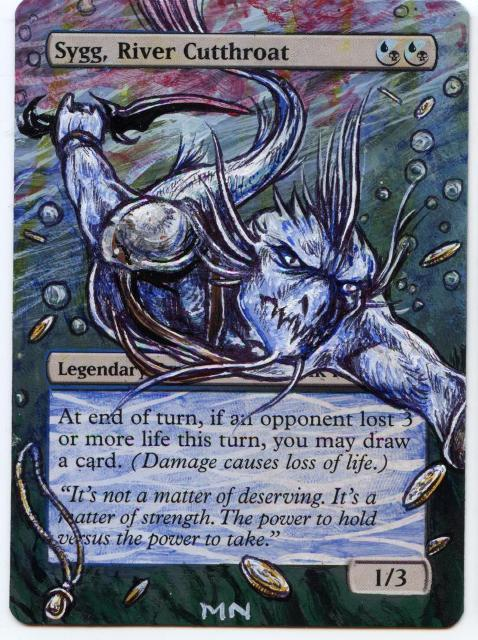 Sygg, River Cutthroat card alter by seesic