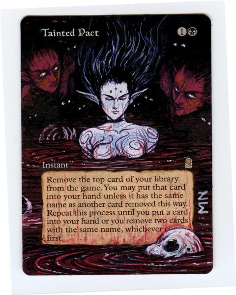 Tainted Pact card alter by seesic