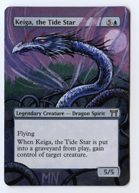 Keiga, the Tide Star card alter by seesic