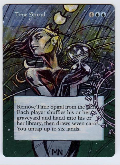 Time Spiral card alter by seesic
