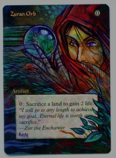 Zuran Orb card alter by seesic