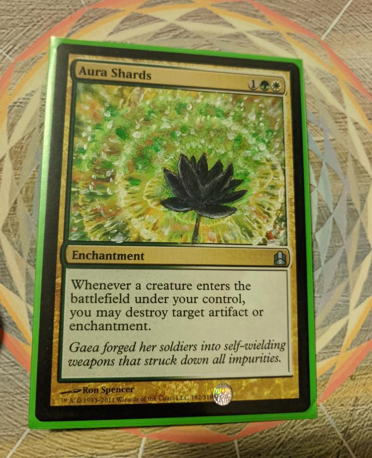 Aura Shards card alter by Denderian
