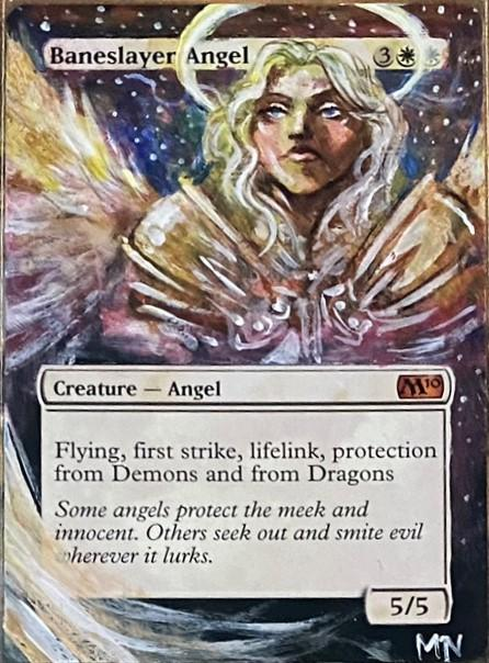 Baneslayer Angel card alter by orlandu77
