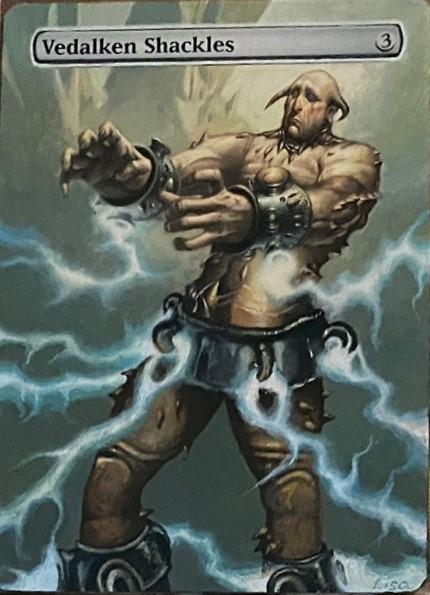 Vedalken Shackles card alter by orlandu77