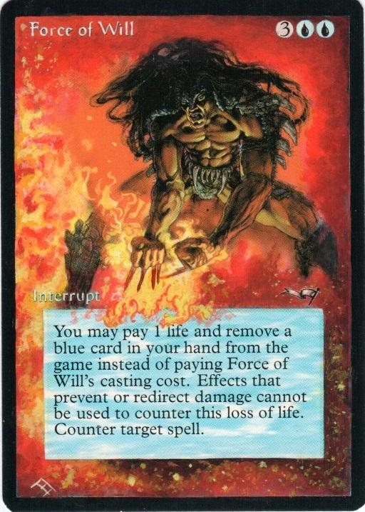 Force of Will card alter by Theperfectone95
