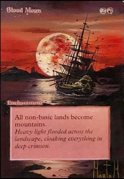 Blood Moon card alter by Theperfectone95