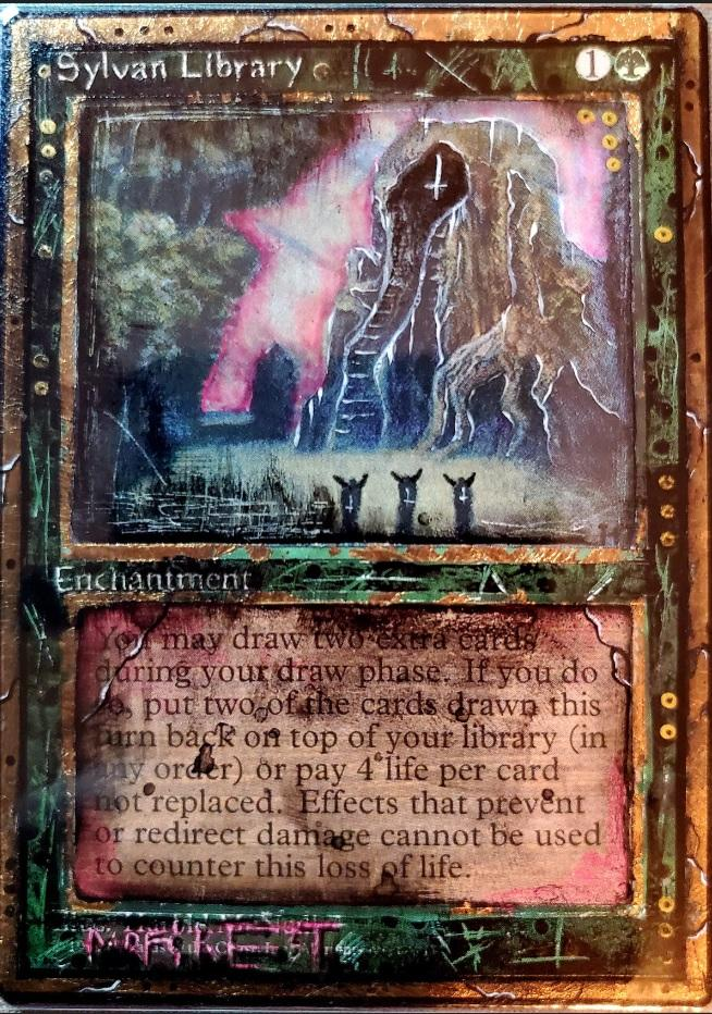 Sylvan Library card alter by Theperfectone95