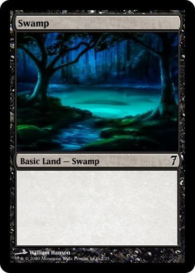 Swamp card alter by Hansonw1978