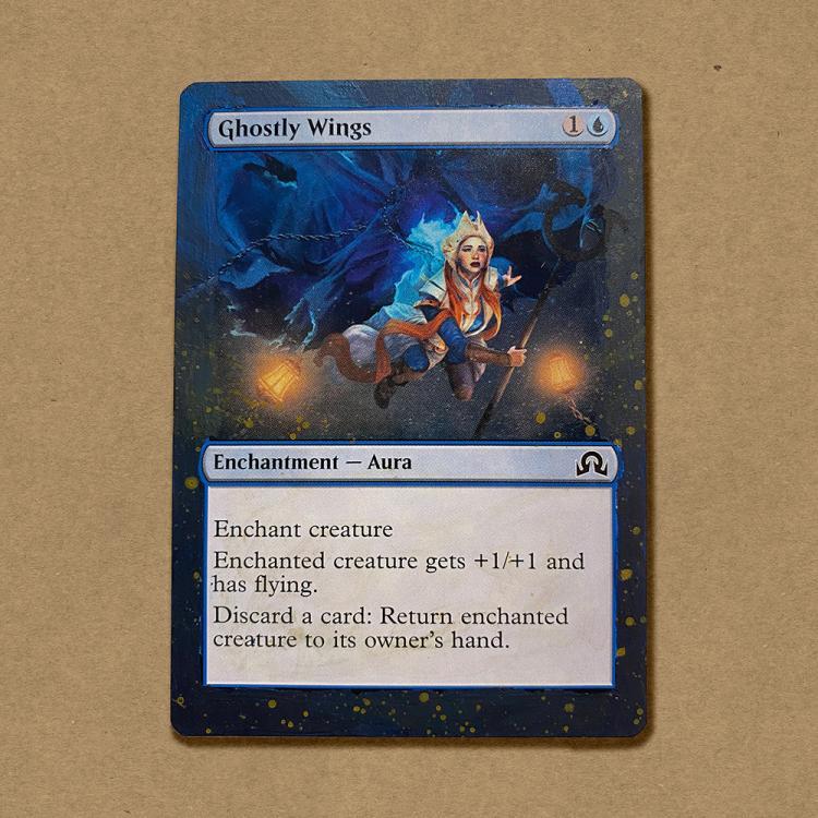 Ghostly Wings card alter by botahnikal