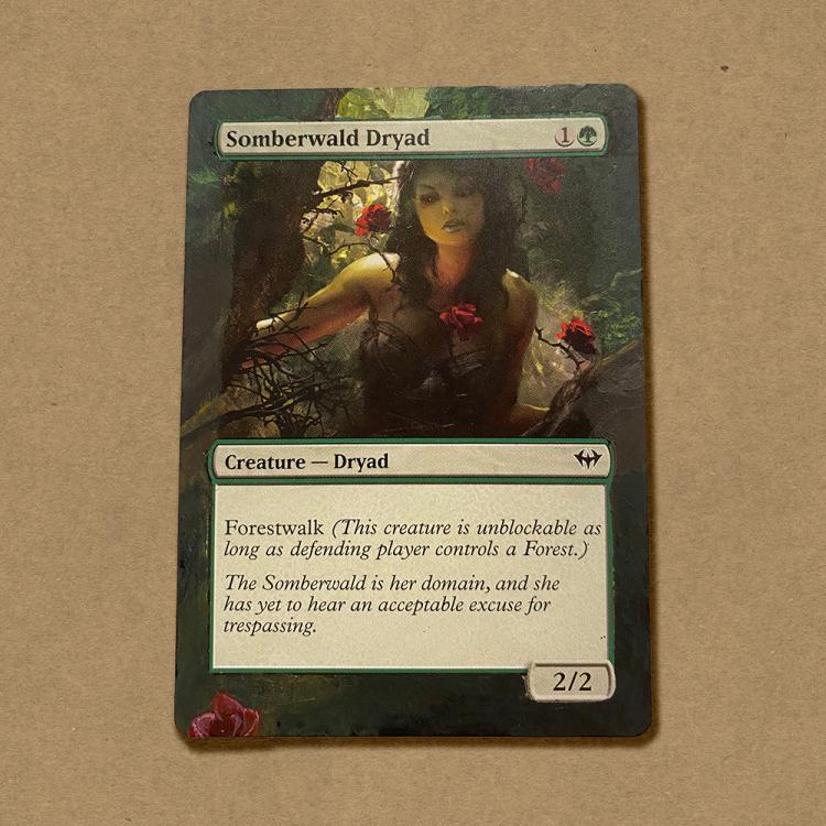 Somberwald Dryad card alter by botahnikal