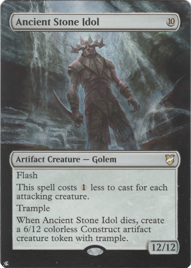 Ancient Stone Idol card alter by Hedon
