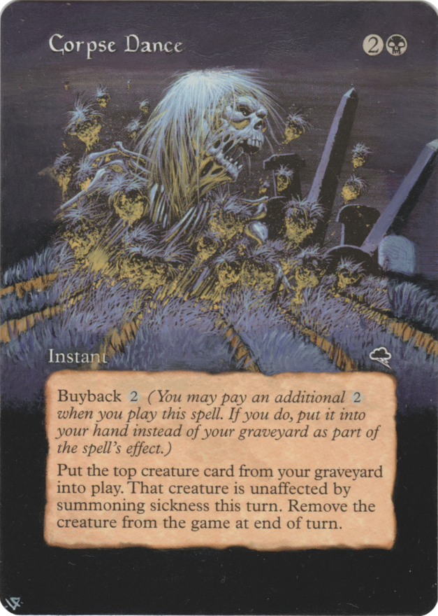 Corpse Dance card alter by Hedon