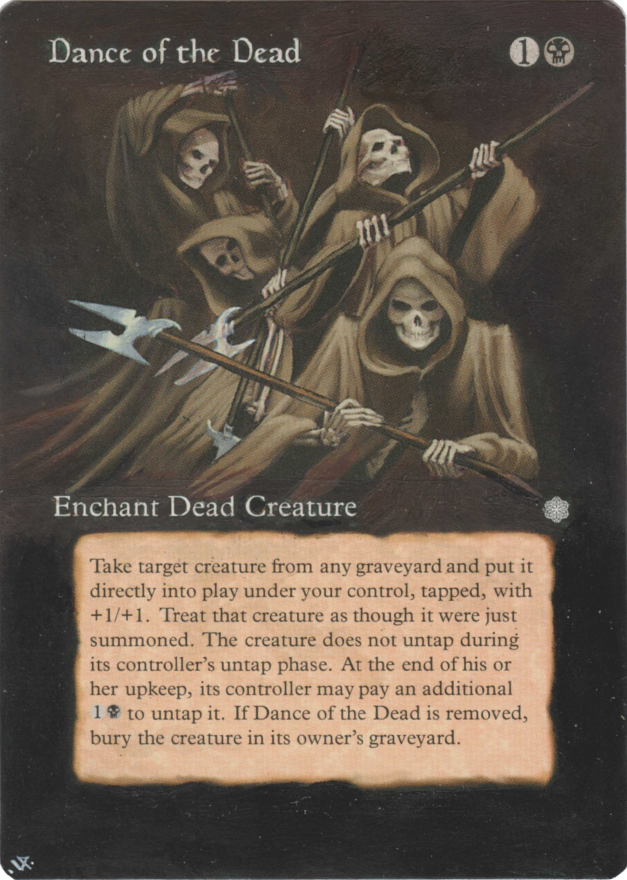 Dance of the Dead card alter by Hedon