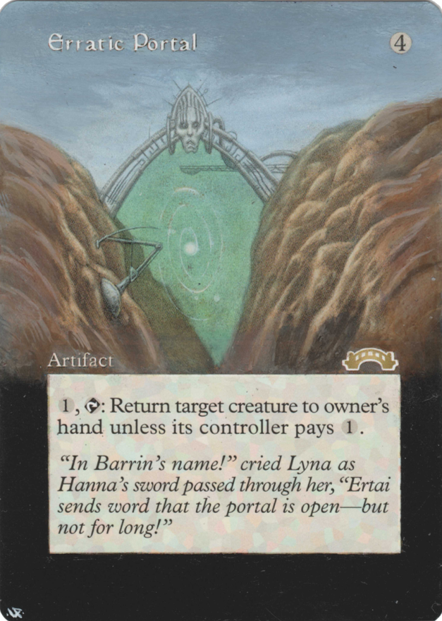 Erratic Portal card alter by Hedon