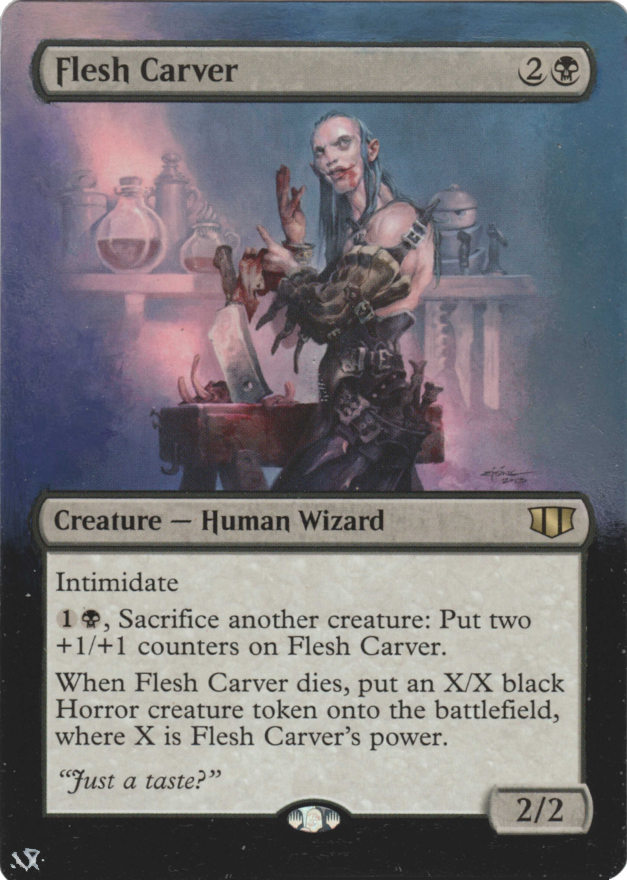 Flesh Carver card alter by Hedon