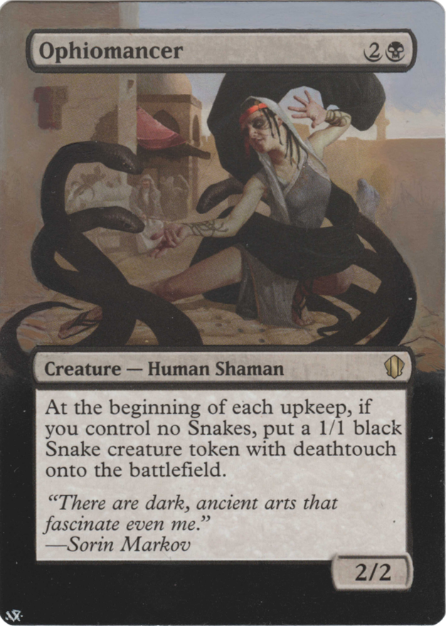 Ophiomancer card alter by Hedon