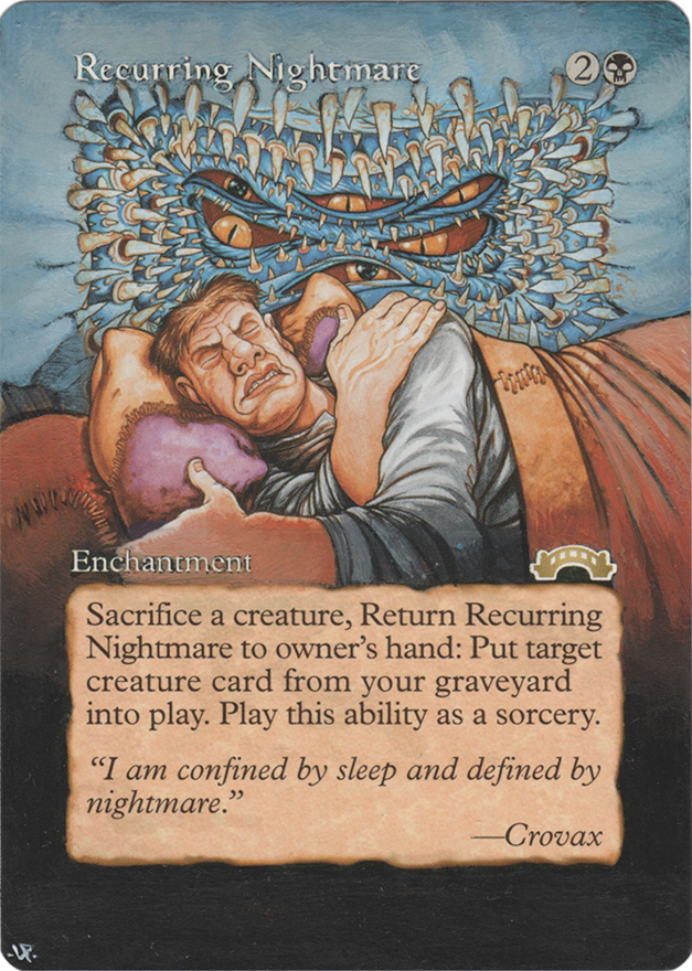 Recurring Nightmare card alter by Hedon