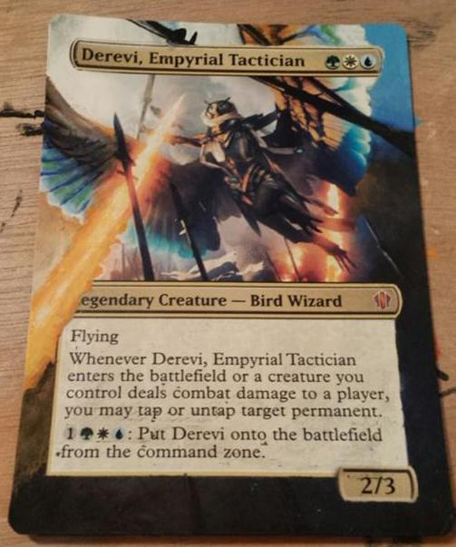 Derevi, Empyrial Tactician card alter by Bodaddy86