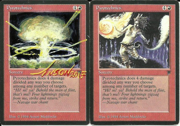 Pyrotechnics card alter by