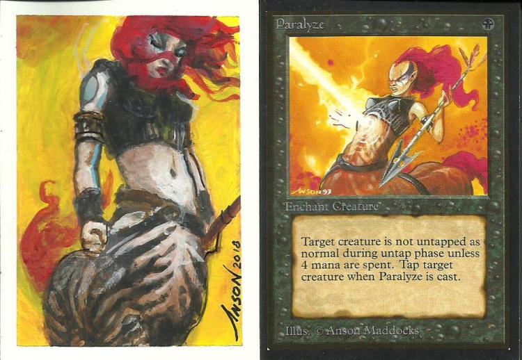 Paralyze card alter by