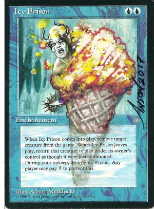 Icy Prison Card Alter by