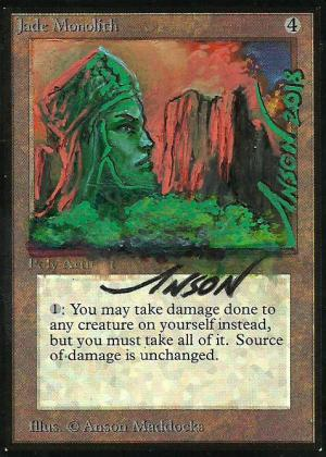 Jade Monolith Card Alter by