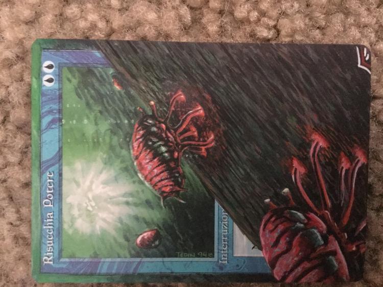 Mana Drain card alter by hollywoodjack