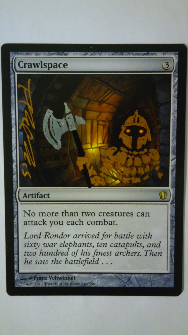 Crawlspace card alter by