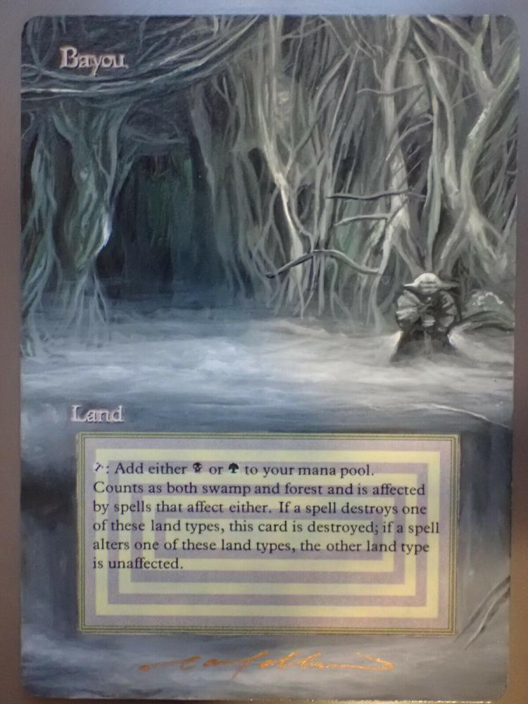 Bayou card alter by DarthNoogies