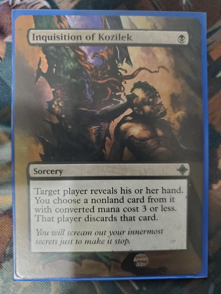 Inquisition of Kozilek card alter by DarthNoogies