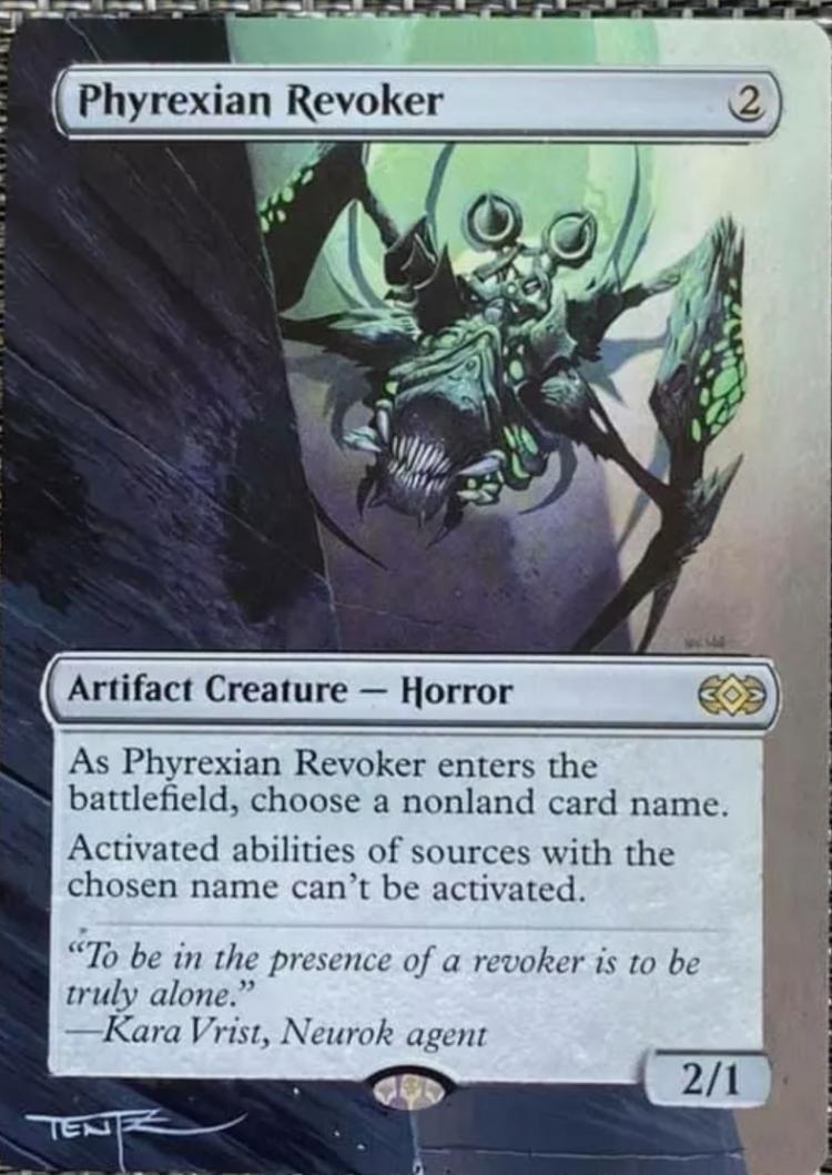 Phyrexian Revoker card alter by DarthNoogies