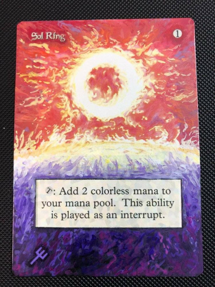 Sol Ring card alter by DarthNoogies
