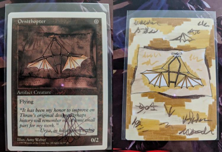 Ornithopter card alter by Abrakadaver