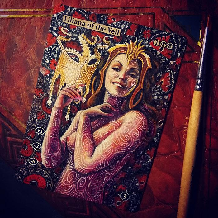 Liliana of the Veil card alter by Abrakadaver