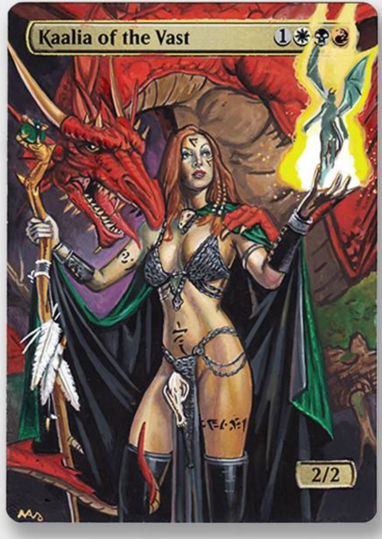 Kaalia of the Vast card alter by Abrakadaver