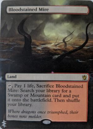 Bloodstained Mire Card Alter by Abrakadaver