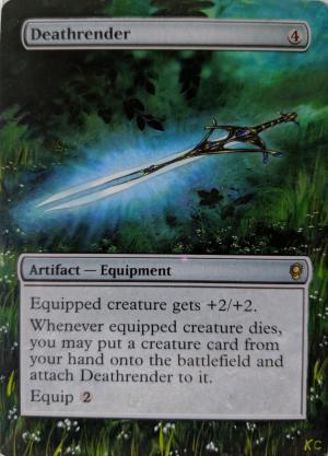 Deathrender Card Alter by Abrakadaver
