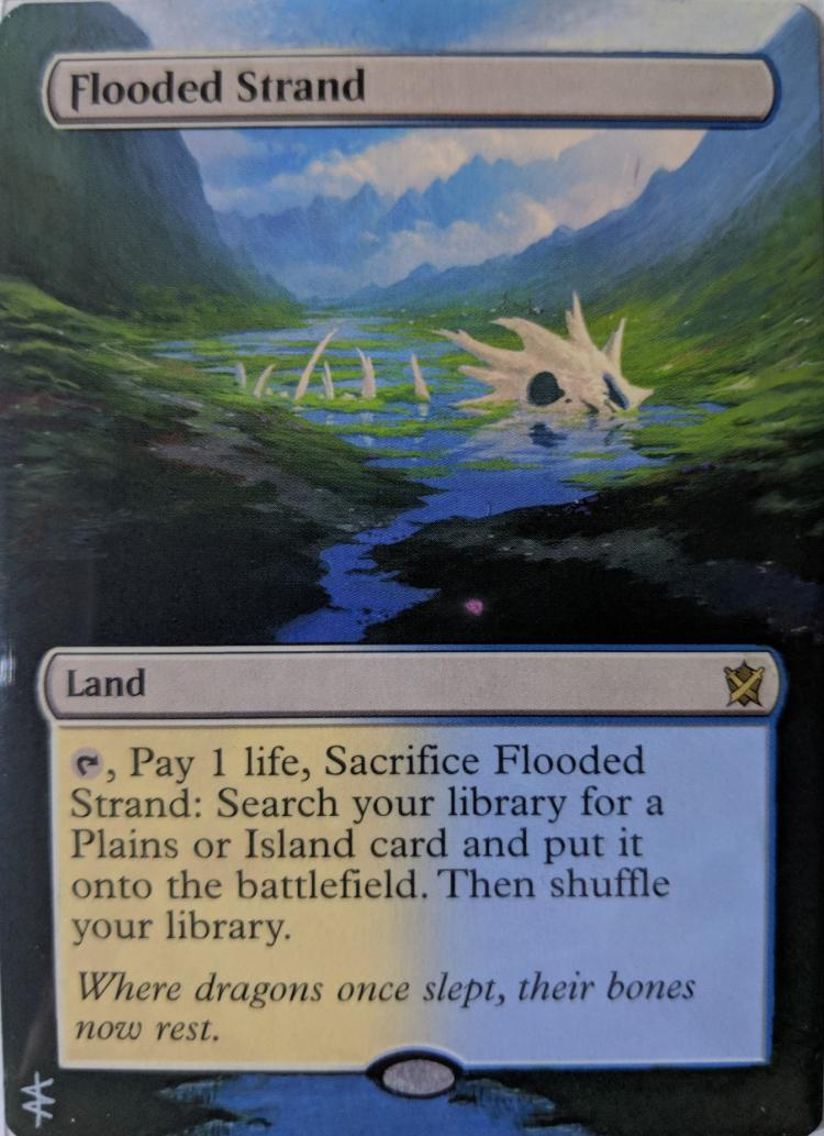 Flooded Strand card alter by Abrakadaver