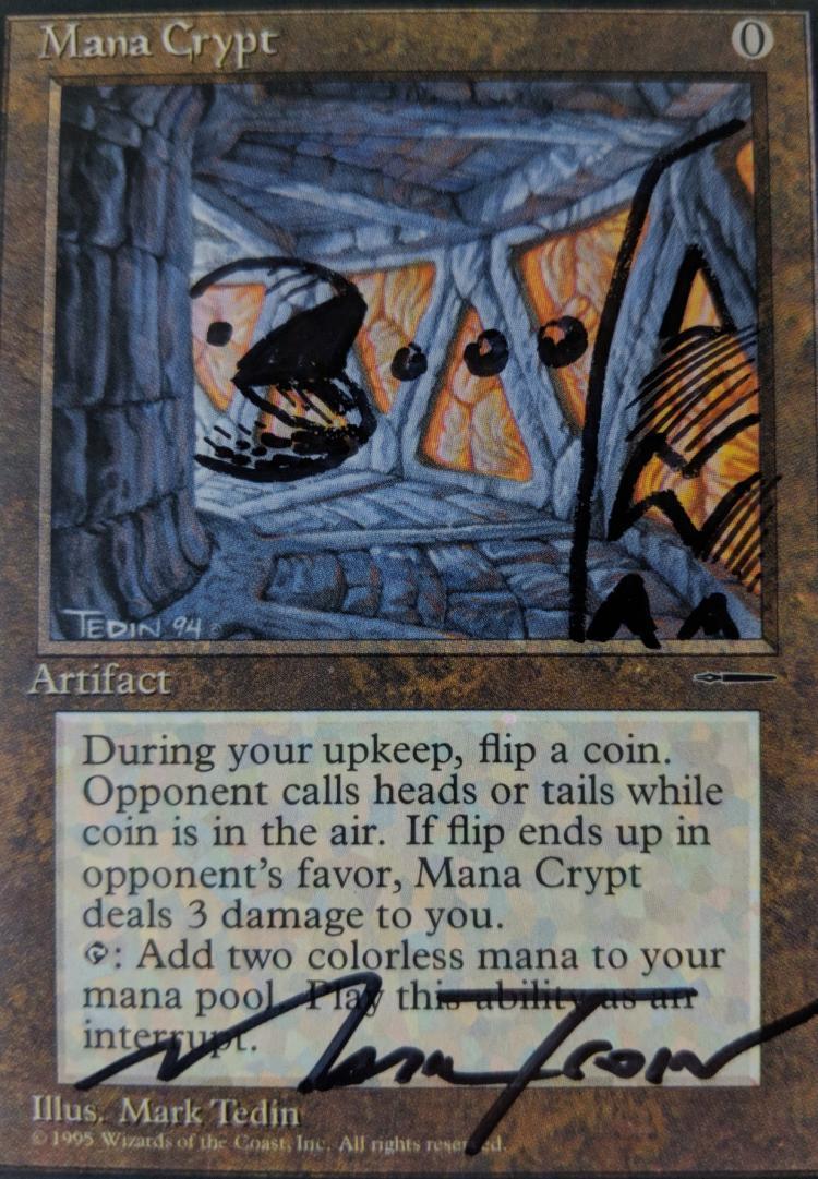 Mana Crypt card alter by Abrakadaver