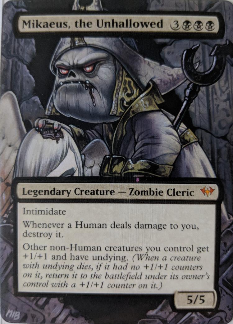 Mikaeus, the Unhallowed card alter by Abrakadaver