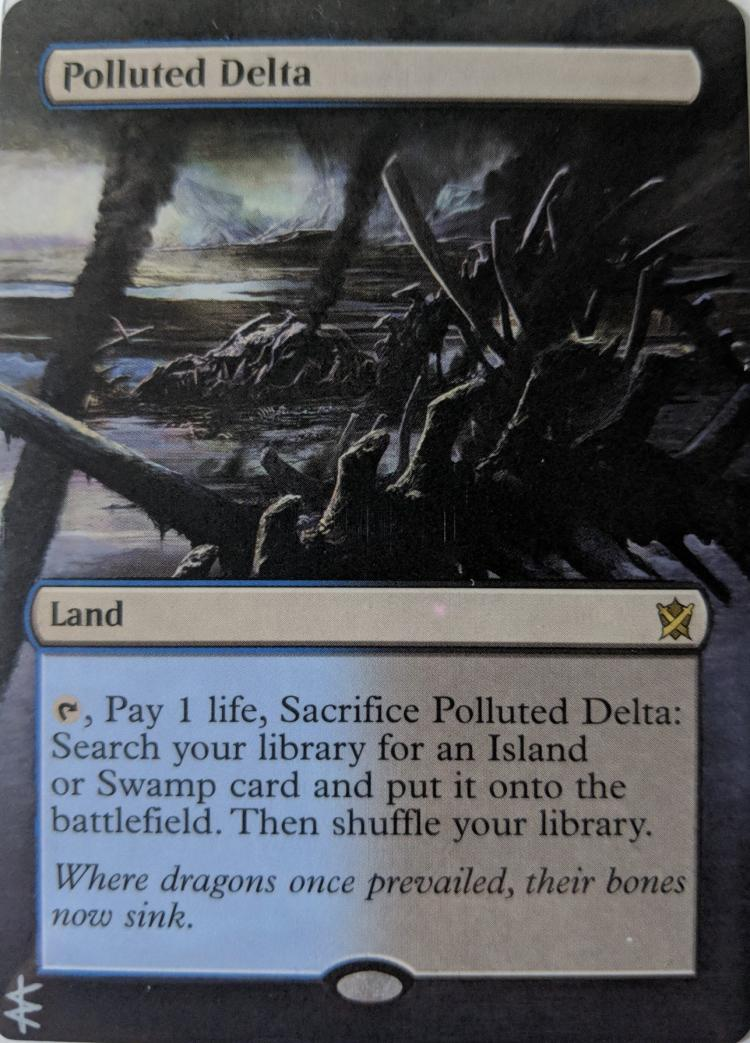 Polluted Delta card alter by Abrakadaver