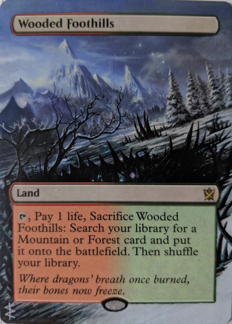 Wooded Foothills card alter by Abrakadaver
