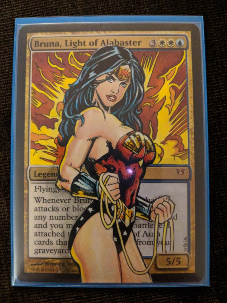 Bruna, Light of Alabaster card alter by Abrakadaver