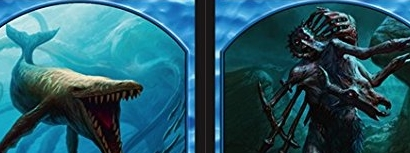 Whale // Zombie (Blue) Double-sided Token