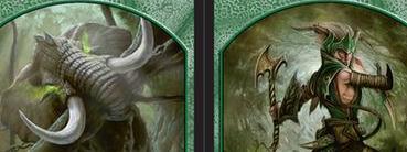 Elephant // Elf Warrior Double-sided Token