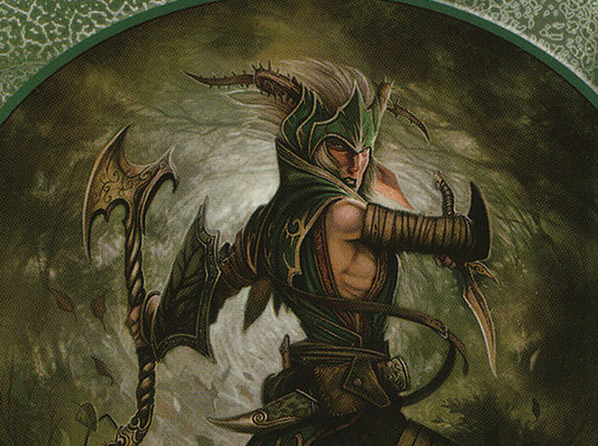 Elf Warrior Token (Green)