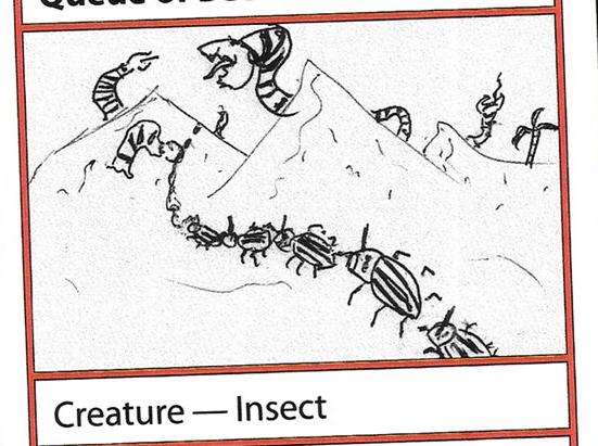 Queue of Beetles