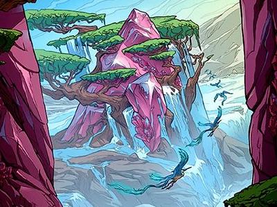 Lair of Ketria Triome 310 Alternate Art Borderless Near Mint MTG Ikoria